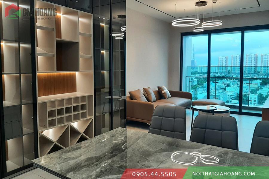Tủ nội thất cánh kính đẳng cấp cho chung cư cao cấp Vista Q2.