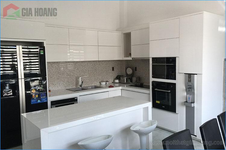 Combo tủ bếp và băn ăn - Nội thất Gia Hoàng