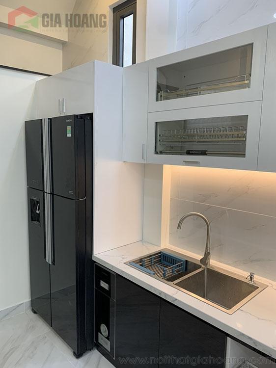 ( Công trình ) combo nội thất tủ bếp - tủ gỗ - tủ cánh kính quận Bình Thạnh HCM