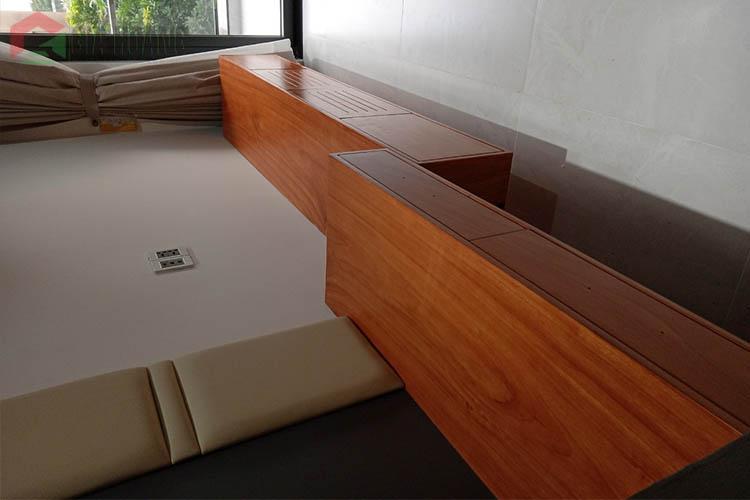 Công trình hoàn thiện kết hợp nội thất gỗ công nghiệp - nội thất gỗ tự nhiện tại Q12