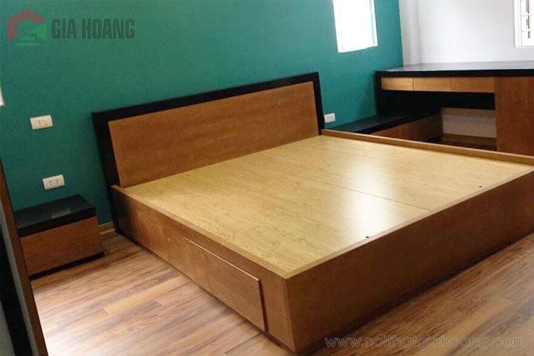 Giường gỗ công nghiệp Laminate