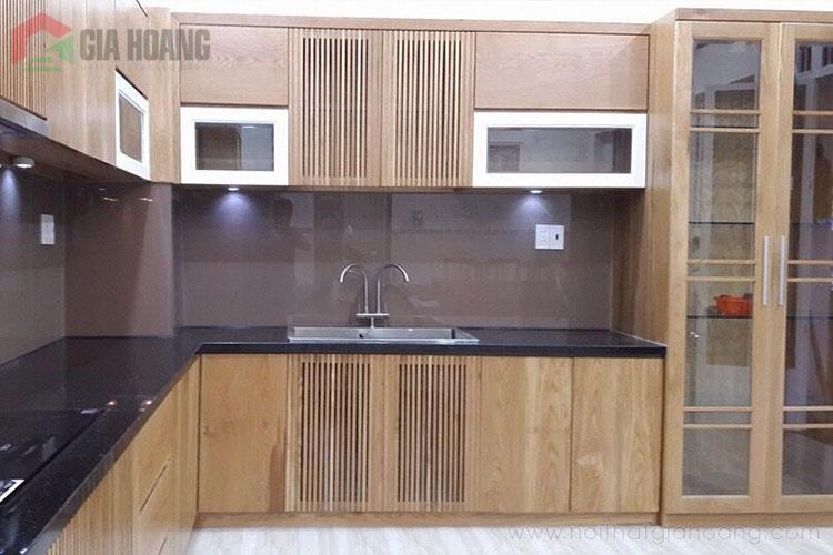Tủ bếp gỗ công nghiệp Laminate