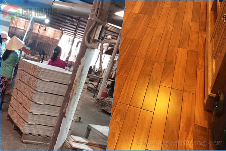 Sản xuất sàn gỗ - ván ốp gỗ Đỏ Nam Phi