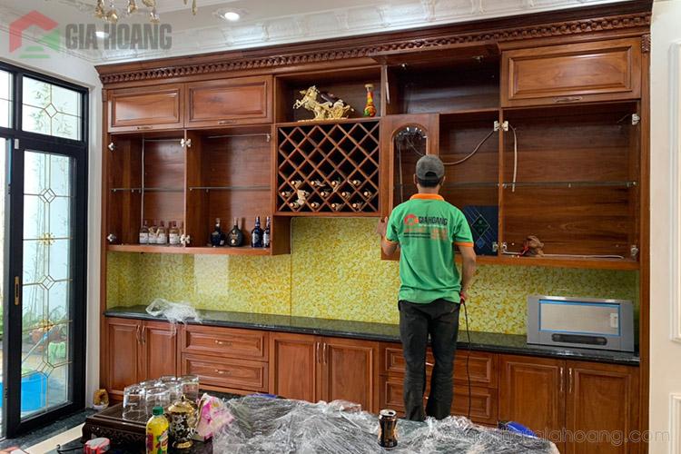 Bố cục tủ bếp hài hòa tận dụng không gian bếp