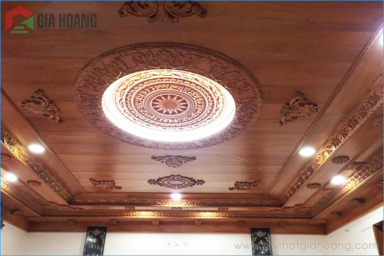 Công trình ốp trần gỗ Gõ Đỏ tại TP.HCM
