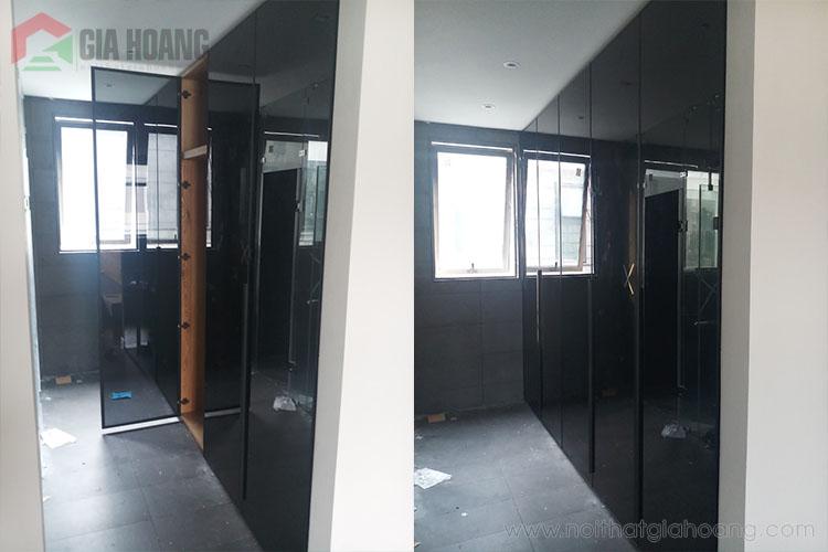 Thiết kế tủ kính nhôm chữ I cho chung cư căn hộ