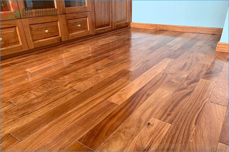 Lắp đặt sàn gỗ Gõ Đỏ quận 7 TP.HCM