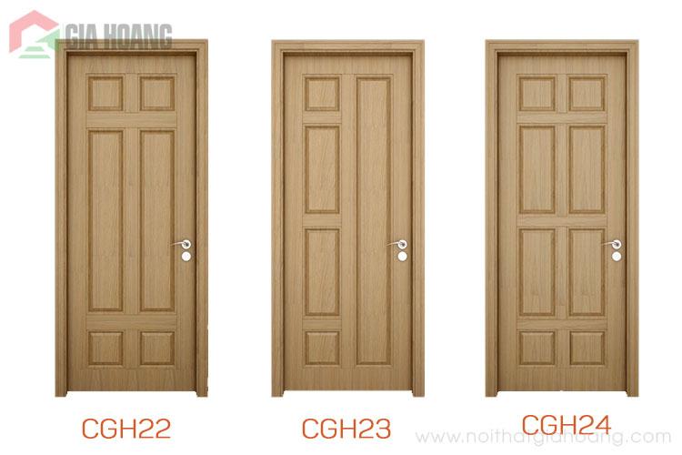 Thiết kế cửa gỗ màu Sồi 2020