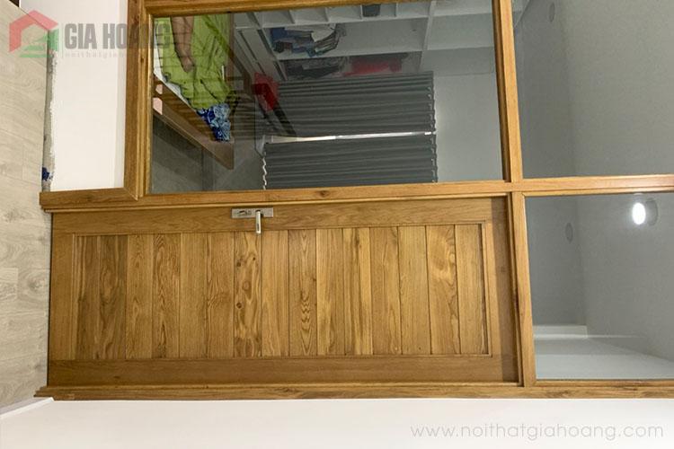 Cửa gỗ Sồi thực tế hoàn thiện
