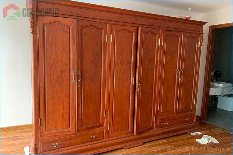 Tủ tường gỗ Gõ Đỏ cao cấp