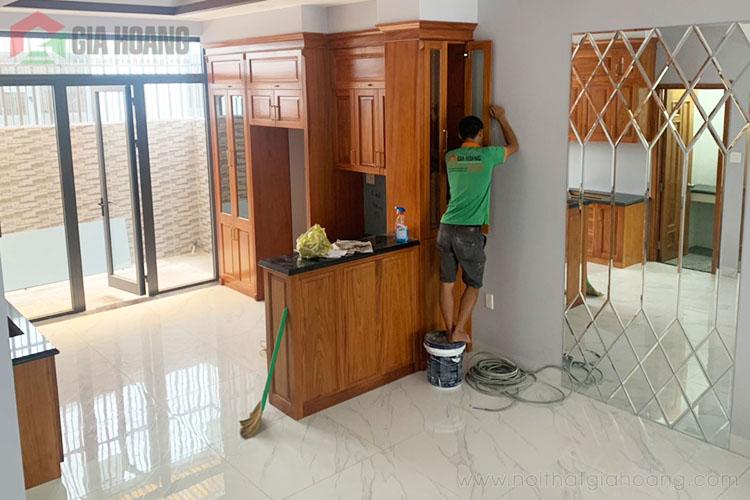 Công trình nội thất Gõ Đỏ Nam Phi quận 7 HCM