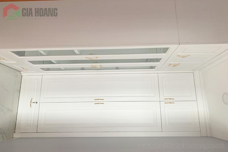Thiết kế tủ gỗ công nghiệp màu trắng
