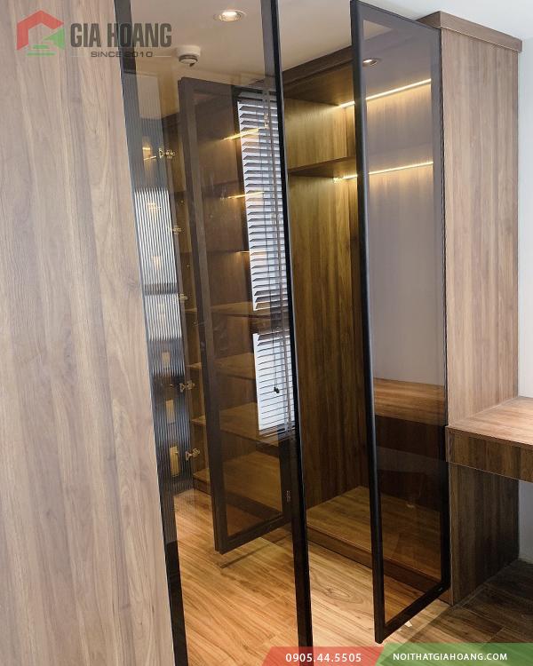 Công trình thi công cánh tủ kính cho tủ nội thất Gia Hoàng