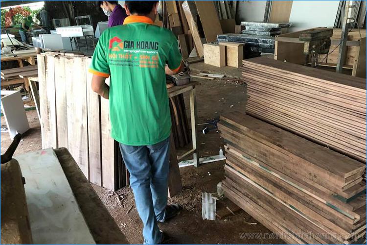 Xưởng gia công sản xuất gỗ Sồi tự nhiên Gia Hoàng